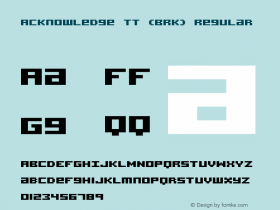 Acknowledge TT (BRK) Regular Version 2.54图片样张