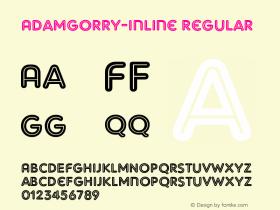 AdamGorry-Inline Regular OTF 1.000;PS 001.000;Core 1.0.29 Font Sample