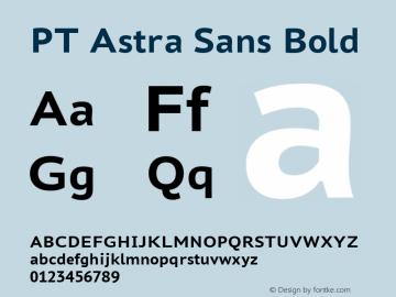 PT Astra Sans Bold Version 1.001; ttfautohint (v1.4.1) Font Sample