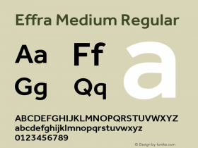 Effra Medium Regular Version 2.000 Font Sample