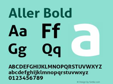 Aller Bold Version 1.010 Font Sample