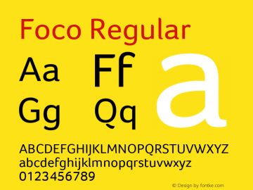 Foco Regular Version 1.101 Font Sample
