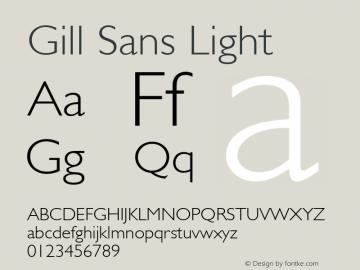 Gill Sans Light 001.000图片样张