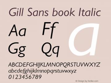 Gill Sans book Italic 001.003图片样张