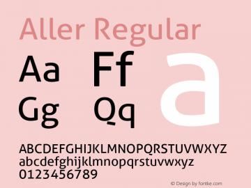 Aller Regular Version 1.010 Font Sample