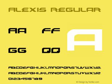 Alexis Regular 001.000 Font Sample