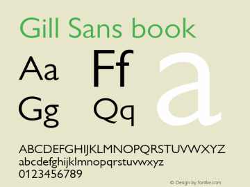 Gill Sans book 001.003图片样张