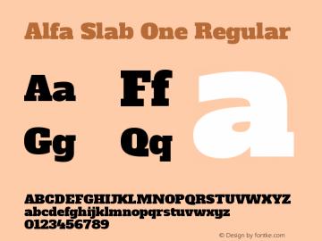 Alfa Slab One Regular Version 1.001图片样张