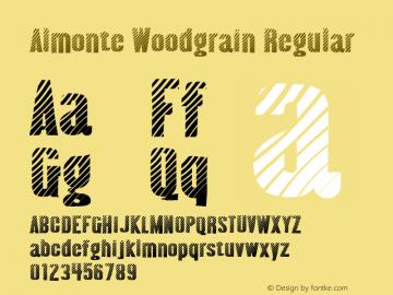 Almonte Woodgrain Regular Version 4.000 Font Sample
