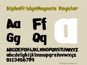 AlphaFridgeMagnets Regular Macromedia Fontographer 4.1.5 6/20/04图片样张