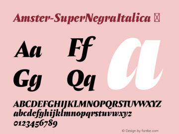 Amster-SuperNegraItalica ☞ Version 1.000;PS 001.000;hotconv 1.0.70;makeotf.lib2.5.58329;com.myfonts.easy.pampatype.amster.super-negra-italica.wfkit2.version.4mdL图片样张
