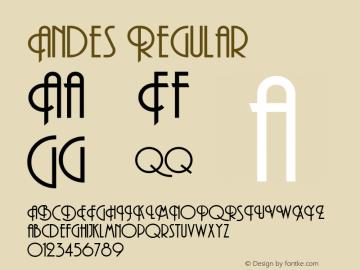 Andes Regular Altsys Metamorphosis:8/18/91 Font Sample
