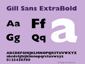 Gill Sans ExtraBold Version 001.000图片样张