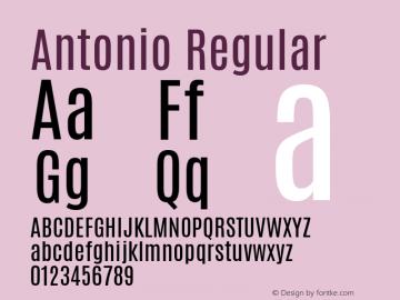 Antonio Regular Version 1 ; ttfautohint (v0.94.20-1c74) -l 8 -r 50 -G 200 -x 0 -w