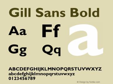 Gill Sans Bold 001.002 Font Sample