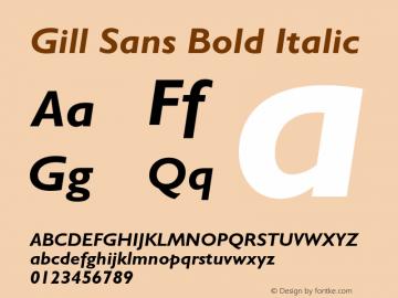 Gill Sans Bold Italic 001.003图片样张