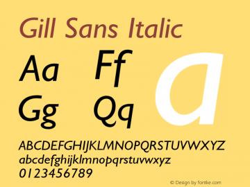 Gill Sans Italic 001.003图片样张