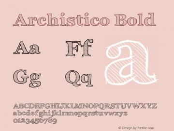 Archistico Bold Version 1.1图片样张