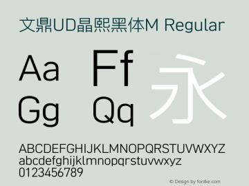 文鼎UD晶熙黑体M Regular Version 1.00图片样张