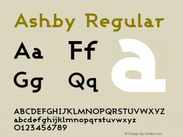 Ashby Regular 1.0图片样张