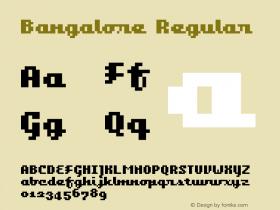 Bangalore Regular Macromedia Fon