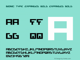 Bionic Type Expanded Bold Expanded Bold 1图片样张