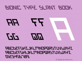 Bionic Type Slant Book Version 1图片样张