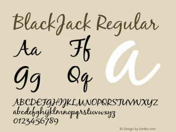 BlackJack Regular 001.000 Font Sample