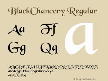 BlackChancery Regular Altsys Metamorphosis:4/30/93 Font Sample
