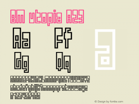 BM utopia A23 Macromedia Fontographer 4.1J 01.12.22图片样张