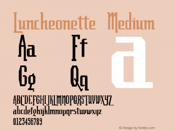 Luncheonette Medium 001.000 Font Sample