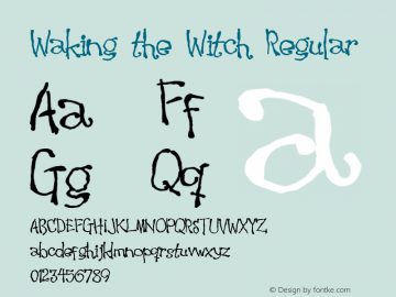 Waking the Witch Regular 2 Font Sample
