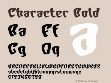 Character Bold Macromedia Fontographer 4.1J 01.1.23 Font Sample