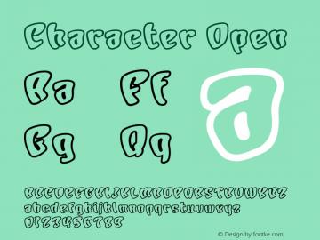 Character Open Version Macromedia Fontograp Font Sample