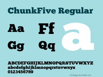 ChunkFive Regular Version 001.001 Font Sample