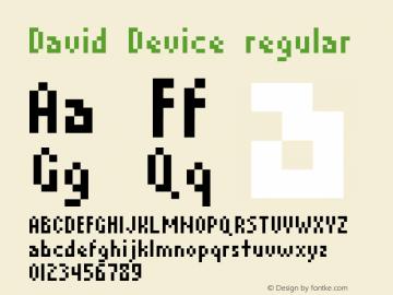 David Device regular 1.00图片样张