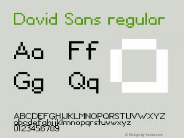 David Sans regular 1.00图片样张