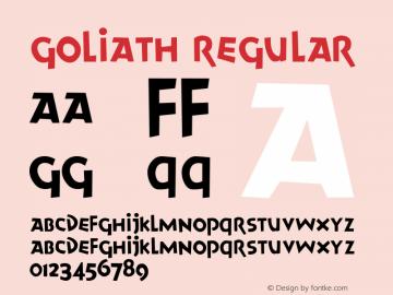 Goliath Regular Altsys Fontographer 4.0.4D2 2/20/97图片样张