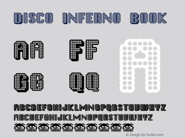 Disco Inferno Book Version Macromedia Fontograp Font Sample