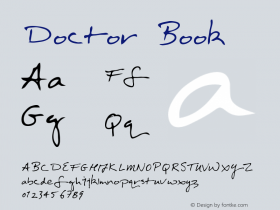 Doctor Book Version Macromedia Fontograp图片样张