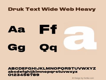Druk Text Wide Web Font Font Version 11 2015 Font Ttf Font
