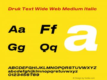 Druk Text Wide Web Medium Fontdruk Text Wide Web Medium Italic Font