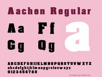 Aachen Regular 1.0 Thu Jun 17 19:44:37 1993 Font Sample