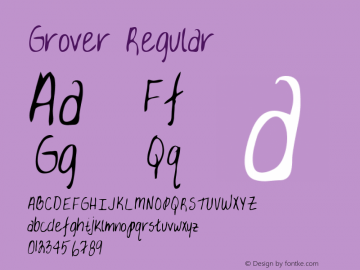 Grover Regular Altsys Metamorphosis:3/3/95 Font Sample