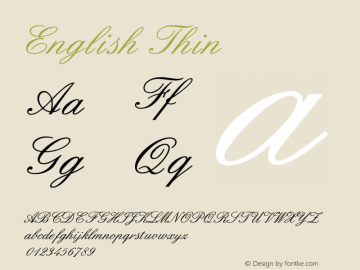 English Thin Version Converted from D:FON图片样张