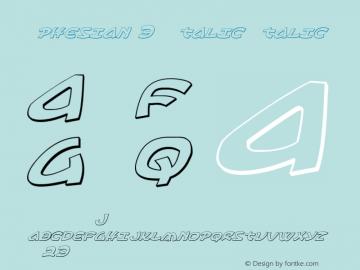 Ephesian 3D Italic Italic Version 1.0; 2007图片样张
