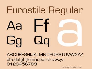 Eurostile Regular Version 1.10图片样张