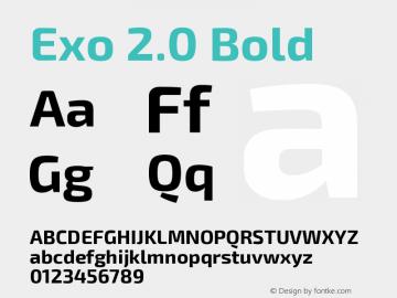 Exo 2.0 Bold Version 1.001;PS 001.001;hotconv 1.0.70;makeotf.lib2.5.58329 Font Sample