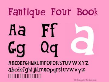 Fantique Four Book Version 00.100.75 Font Sample