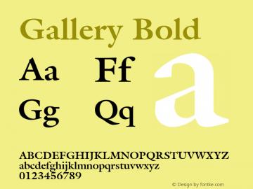 Gallery Bold Font Version 2.6; Converter Version 1.10 Font Sample